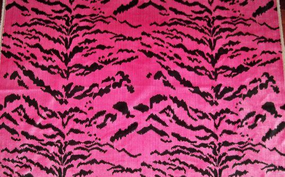 DESIGNER ITALIAN La Tigresa Tiger Scalamandre Style Tigre