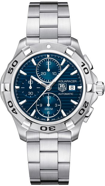 CAP2112.BA0833  NEW TAG HEUER AQUARACER CHRONOGRAPH MENS LUXURY WATCH IN STOCK - Hassle free returns thru Jan 31st   - FREE Overnight Shipping | Lowest Price Guaranteed    - NO SALES TAX (Outside California)- WITH MANUFACTURER SERIAL NUMBERS- Blue Dial - Chronograph Feature - Self Winding Automatic Movement- 3 Year Warranty- Guaranteed Authentic- Certificate of Authenticity- Brushed with Polished Steel Case