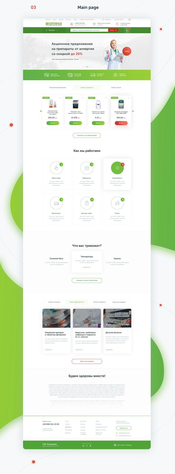 Pharmaceutical Network E-commerce website on Behance