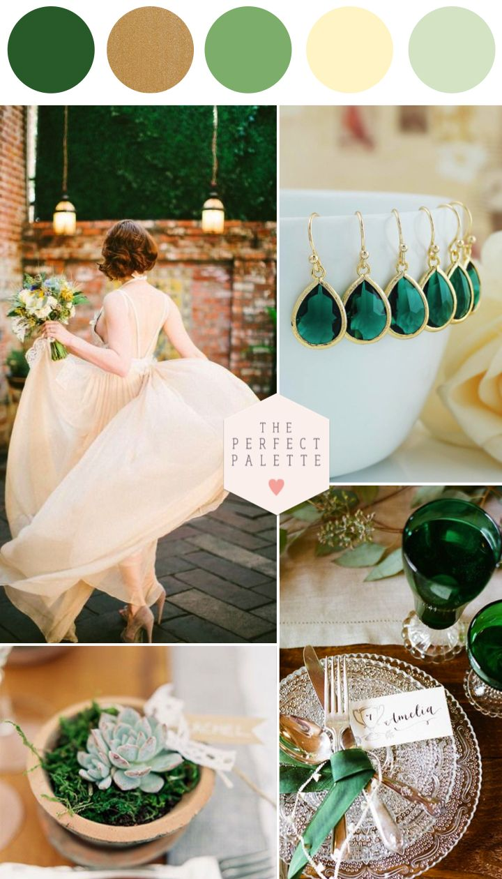 Emerald and Ivory Wedding Inspiration - www.theperfectpalette.com - Color Ideas for Weddings + Parties