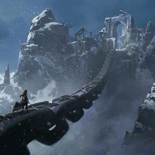 Pico do gelo eterno 446a49ae884dc07bac48a203ddb119b2--snow-mountain-castle-ruins