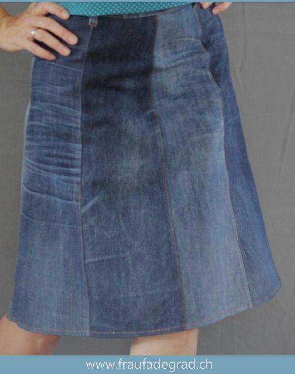 Dieser Rock Ist Ein Tolles Näh Upcycling Projekt Aus Alten Jeans