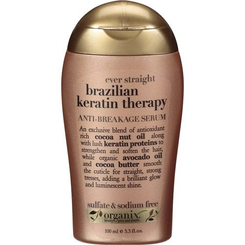 OGX Anti-Breakage Serum Ever Straight Brazilian Keratin Therapy, 3.3 FL OZ