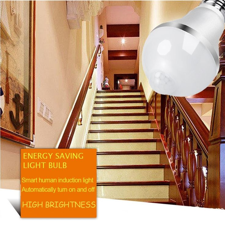 Motion Activated LED Bulb - E26/E27 Motion Sensor Light Bulb Outdoor/Indoor LED Dusk to Dawn Bulbs with Motion Detector