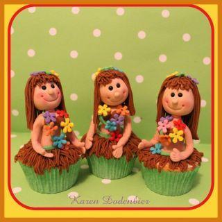 Hawaii cupcakes! - CakesDecor