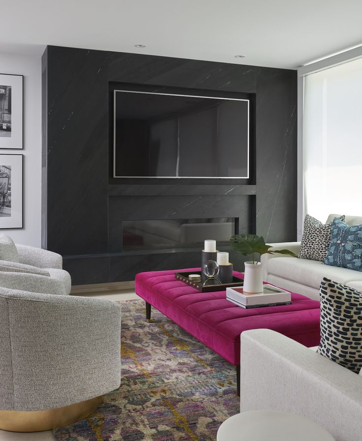 Pink ottoman || A pop of something unexpected – FIRST SENSE