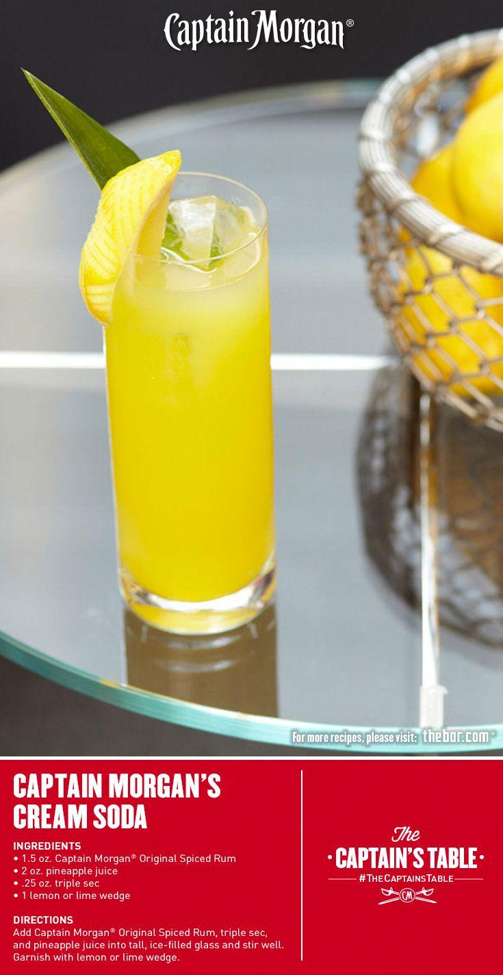 Captain Morgan's Cream Soda: Tangy, sweet and irresistible. #Captain #Morgan #Spring #cocktail #rum #CaptainMorgan #CaptainsTable
