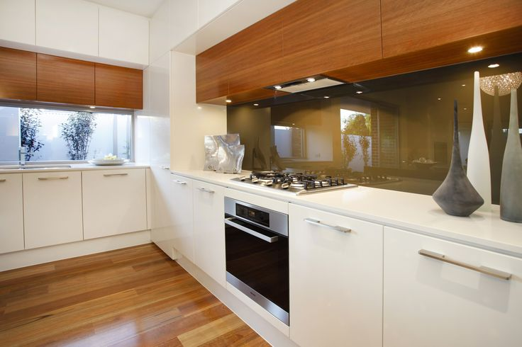 Timber cabinetry adds interest to a modern kitchen and compliments the timber floors for a streamlined look...