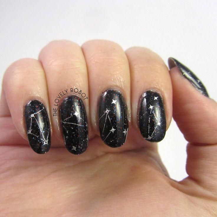 Constellation Nails using MoYou Zodiac 09 Libra
