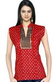 #Kurti #Style- #Red Available at our store Be the icon in a simple style with these absolutely 'too good ones' #casuals #shopping #femalewears #dresses #indianstyle #FConnexions