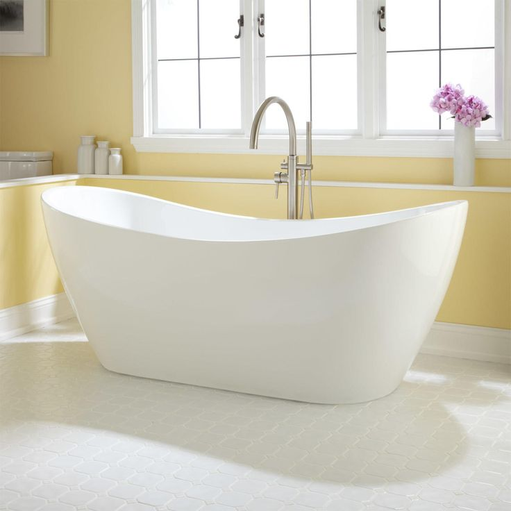 1000 images about slipper tubs on pinterest cast iron for Cast iron vs acrylic tub