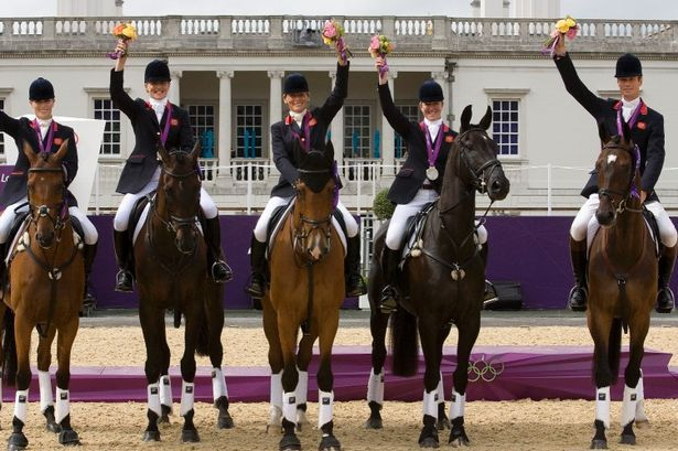 Team GB Equestrian take silver at London 2012