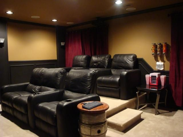 Best 25 home theater seating ideas on pinterest for Home theater basement design ideas