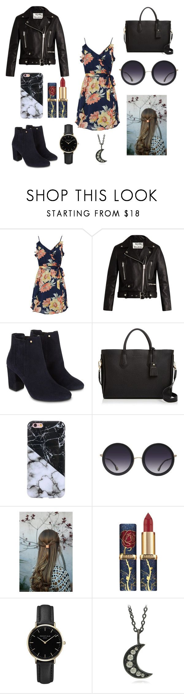 Outfits by saracolasurdo on Polyvore featuring mode, Joie, Acne Studios, Monsoon, Longchamp, ROSEFIELD and Alice + Olivia