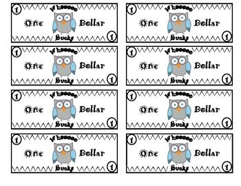 Owl Themed Classroom Money System Rules