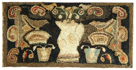 I'm hooking this one too.  It is a challenge rug for the Ebay Group An American …Kristie Allison Mueller