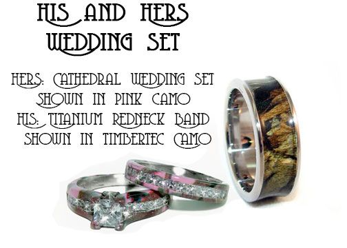 his and her camo rings google search - His And Her Camo Wedding Rings