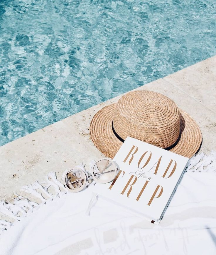 Summer essentials #poolside #pool #beach #towel #r…