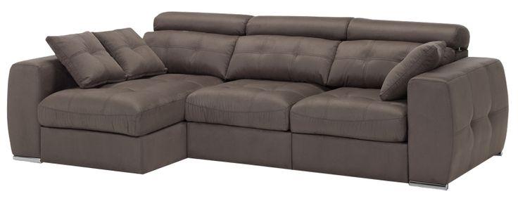#Galaxy con deslizantes y cabezales reclinables #sofa #chaiselongue