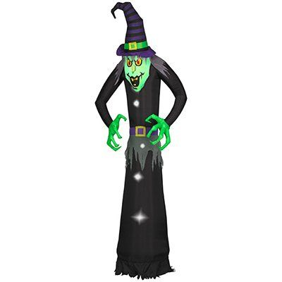 Halloween Lawn Decoration, Self-Inflating, Wicked Witch, 12-Ft.: Model# 53906 | True Value