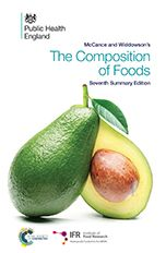 Provides authoritative and comprehensive nutrient data for over 1,200 of the most commonly consumed foods . There are new entries for many foods that have become popular in recent years, such as fresh pasta and creme fraiche. Values for a wide range of nutrients are provided. Additional tables cover phytosterols, carotenoid fractions, vitamin E fractions and, for the first time, vitamin K1 and AOAC fibre.