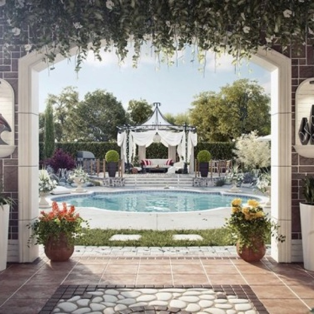 Outdoor Luxury Pool House: 1000+ Images About Pools: Indoor And Outdoor On Pinterest