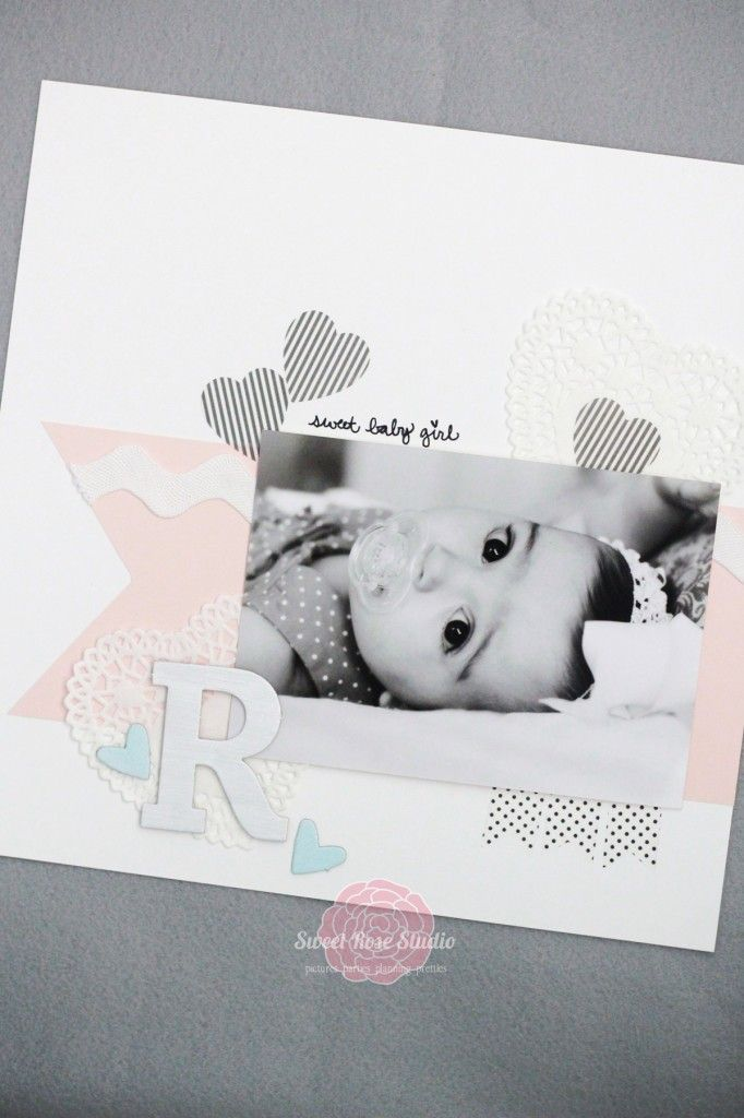 Beautiful Baby Scrapbook Layout | Sweet Rose Studio