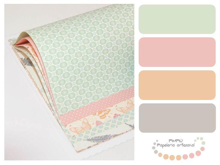 Vamos a empezar a publicar la #gamadecolores que utilizamos para #diseñar y #decorar nuestros #productos de #papelería  El primero un #cumplemes para los más peques de la casa, en  #tonospasteles #colores #palette #paletadecolores