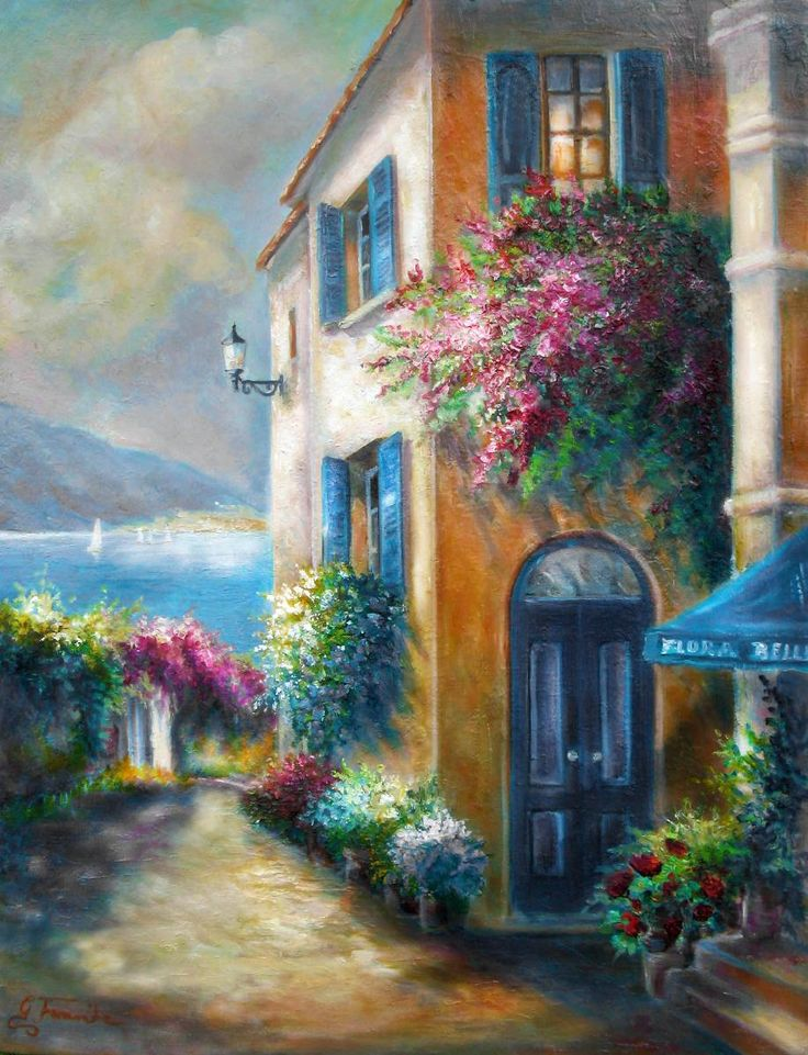 """Blue Door"" (Such a BEAUTIFUL painting!!)"