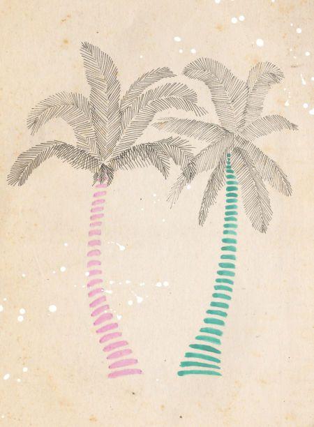 Emily Hamilton - Palm Trees, Plain