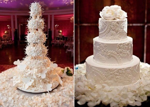 ... De Mariage Blancs sur Pinterest  Gâteaux de mariage, Mariages et