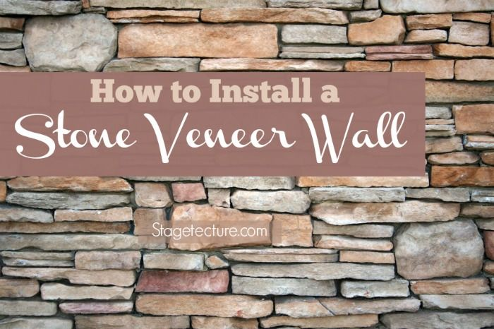 How to Install Interior Stone Veneer (Video). Watch the video and get tips to install faux stone panels in your home. Materials, tips and ideas. #DIY #home #stone