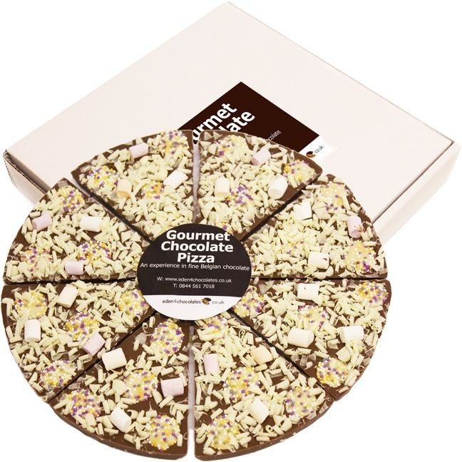 Marshmallow & Button Feast Chocolate Pizza 26cm