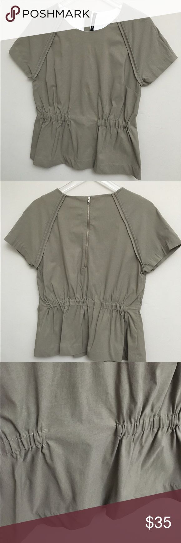 NWT Walter Baker W118 Taupe Bennett Top Large New with tags Walter Backer (W118) top. Bennett style. Taupe color. Short sleeves. MSRP: $128 W118 by Walter Baker Tops Blouses