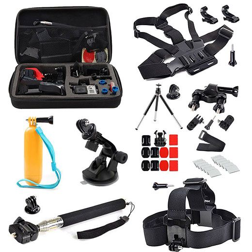 6. EEEKit 20in1 Accessories Bundle Essentials Kit for Gopro HD Hero 4 3+ 3 2 1 Camera