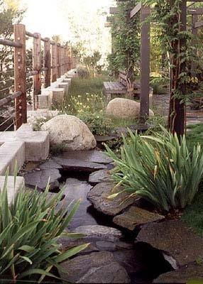 Wes Craven's garden.: The Rocks, Pergolas, Wes Gardens, Hill Gardens, Stones Ponds, Stones Gardens, Gardens Design, Craven Gardens, Galleries Wes