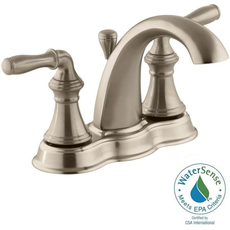 Fesselnd KOHLER Devonshire 4 In. Centerset 2 Handle Mid Arc Water Saving Bathroom  Faucet In Vibrant Polished Brass