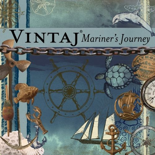 Mariner's Journey Digikit at  DaisyTrail.com: Nautical kit inspired by old world navigation and the deep blue hues of the sea. This kit features watercoloured sea turtles and dolphins as well as coral and antique sailing instruments.