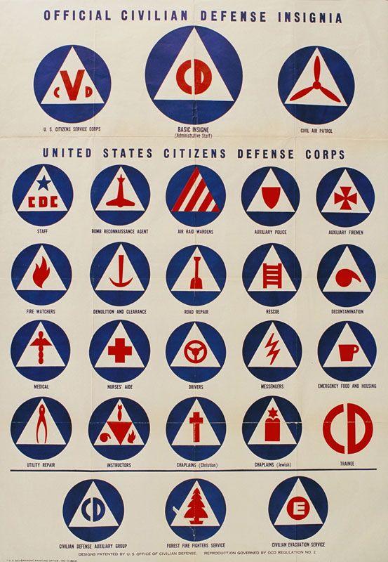 Official Civilian Defense Insignia: Defense Insignia, Logo, Defen Insignia, Civilian Defense Posters Jpg, Design Icons, Civil Defense, Graphics Design, Official Civilian, Defen Corps