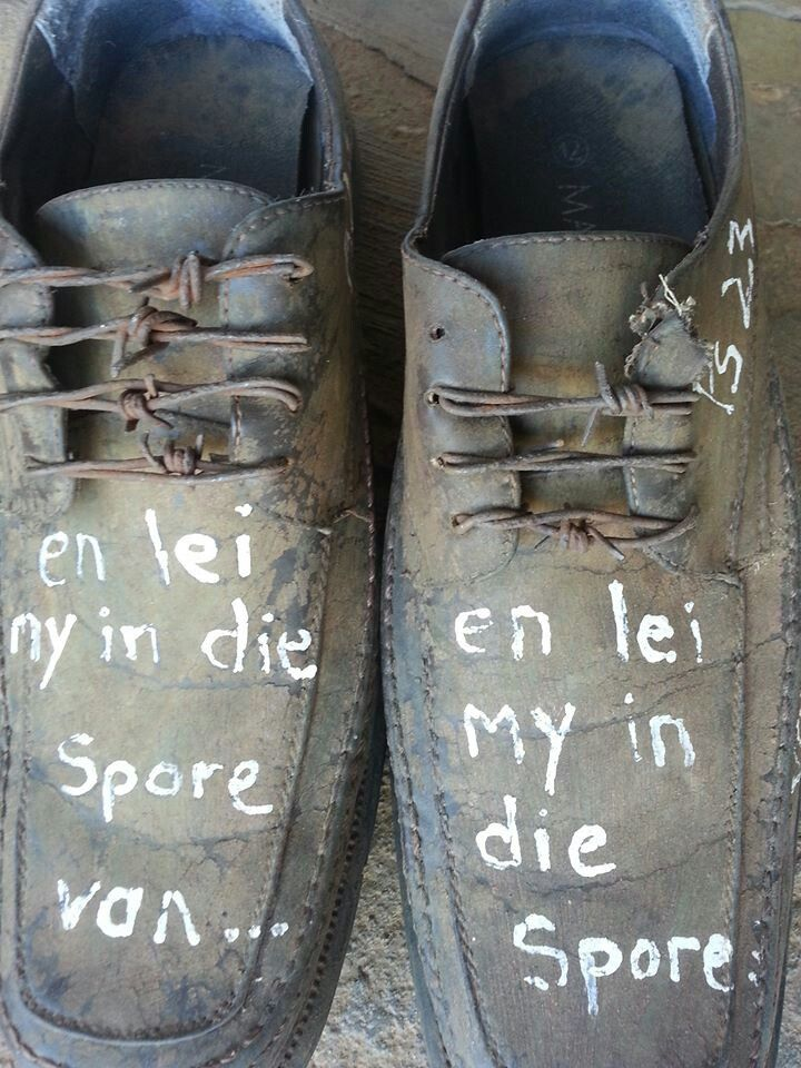 Godbothering old shoes at the glorious Padlangs farmstall in Patensie, Eastern Cape. 'And lead me in the footsteps of'