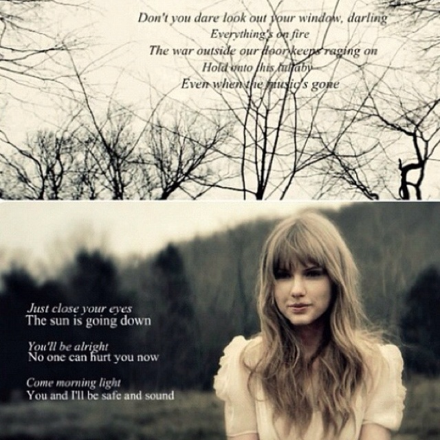 Safe and Sound taylor swift love this song and the fact that it's associated with Hunger Games <3