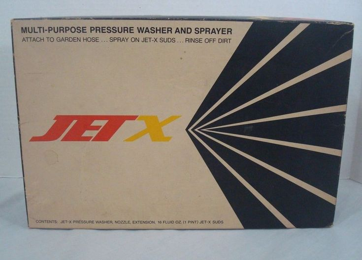 Vintage Jet X Pressure Washer And Sprayer Multi Purpose Auto Home Marine USA  #JetX