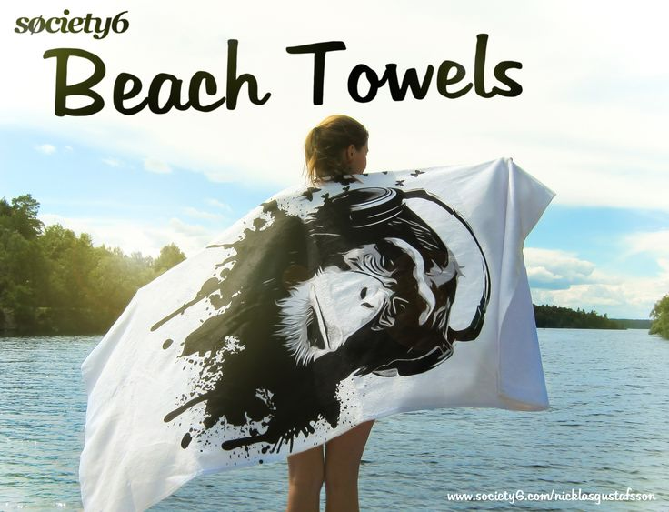 Summer is here, so make sure to look your best on the beach with these great Beach Towels from Society6 #towels #towel #bath #beach #homedecor #monkey #monkeybusiness #music #headphones #graffiti #spatter #chimp #illustration