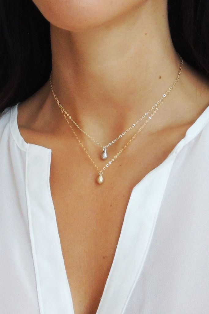 HANDMADE BRIOLETTE NECKLACE IN STERLING SILVER OR 14K GOLD FILL | Glamour and Glow