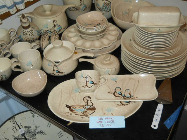 NET large set of Red Wing Bob White china & 10 best Red Wing Bob White images on Pinterest | Red wing pottery ...