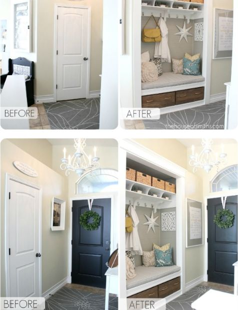 Entry Closet -This is what I Want to do in our entry closet ...-or something similar
