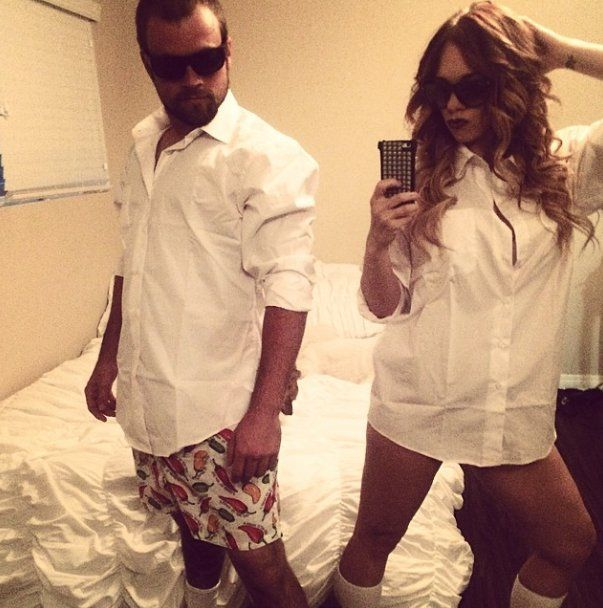 Pin for Later: 63 Insanely Cheap DIY Sexy Halloween Costumes Risky Business Try some Risky Business moves. What you need: White button-down and sunglasses.