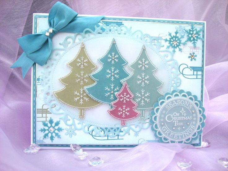 Paper Craft Christmas Card Ideas Part - 34: Christmas Card Made From Pergmano Winter Festival Parchment Paper