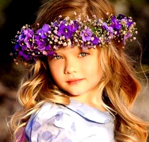 Flower Crown Purple: Flower Girls & Ring Bearers