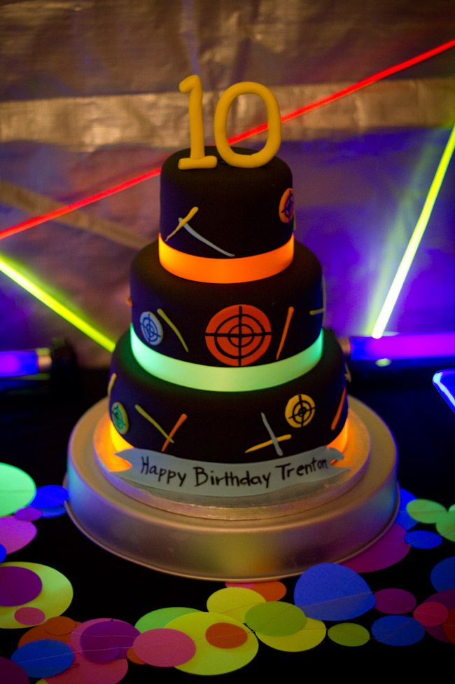 laser tag glow party